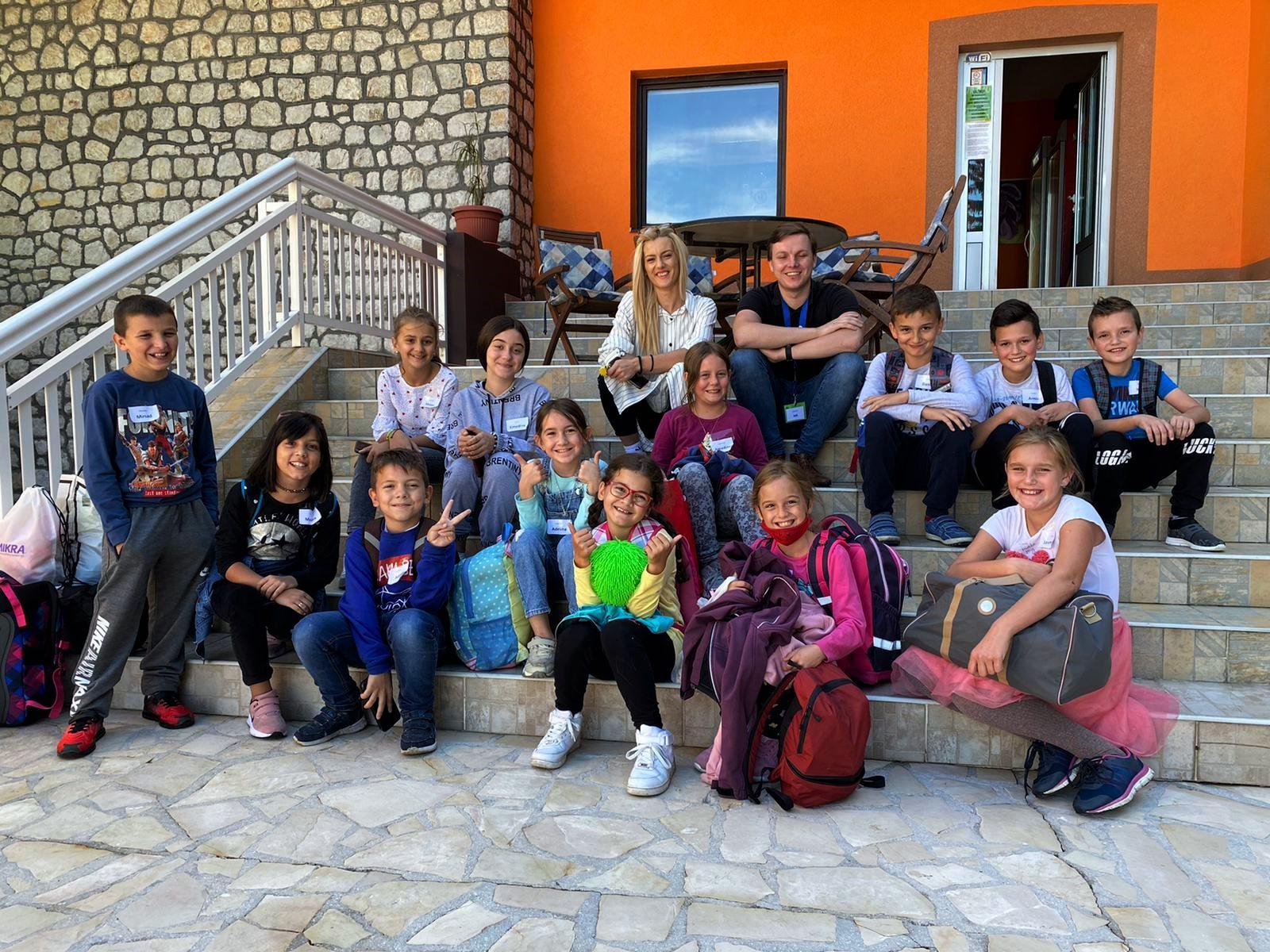 De eerste dag met de kinderen in Toplice