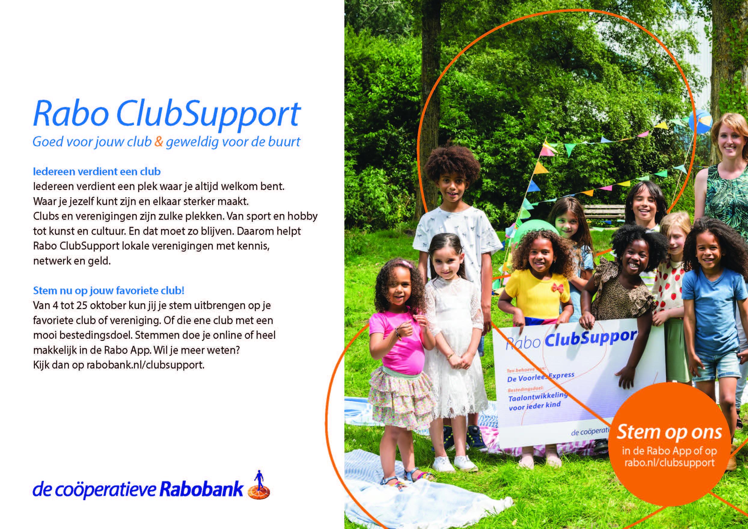 Steun Kinderhulp Bosnië met de Rabo ClubSupport